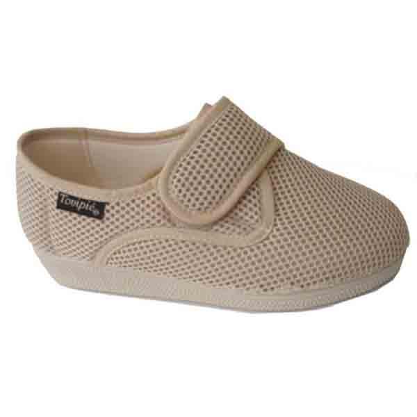 Zapatillas cerradas de verano Velcro Beig
