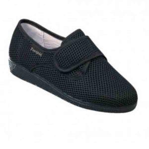Zapatillas cerradas de verano Velcro Negro